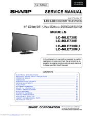 sharp lc 46le730e manuals rh manualslib com Acqua's Sharp Sharp AQUOS Smart TV