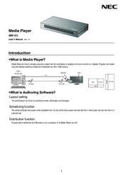 NEC MP-01 User Manual