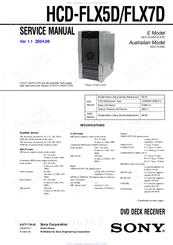 sony hcd flx5d manuals rh manualslib com Sony HCD Ec709ip Sony HCD C990