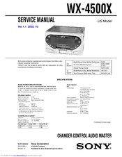 Sony WX-4500X Installation/Connections Service Manual
