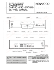 Kenwood DV-2070 Service Manual