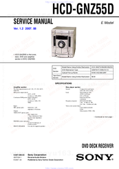 Sony HCD-GNZ55D Manuals