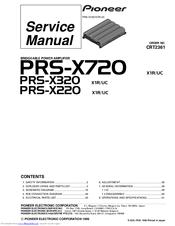 pioneer prs x720 manuals pioneer prs x720 service manual