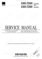 aiwa csd td69 manuals rh manualslib com Aiwa Model Aiwa 3-Disc CD Player