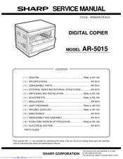 sharp ar 5015 n manuals rh manualslib com Sharps AR- 15 Sharp AR- M355N