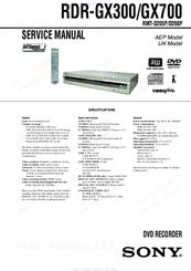 sony rdr gx300 manuals rh manualslib com sony rdr-gx300 dvd recorder manual Sony RDR GX300 Manual