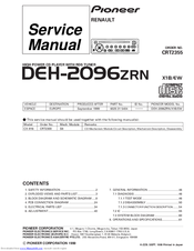 Pioneer DEH-2096ZRN Service Manual
