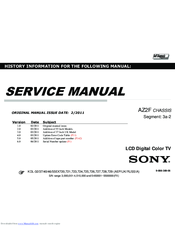 Sony Bravia KDL-55EX721 Service Manual