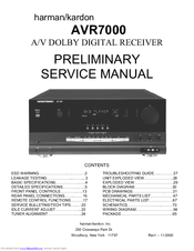 harman kardon avr 7000 manuals rh manualslib com harman kardon avr 7000 service manual Manual Book