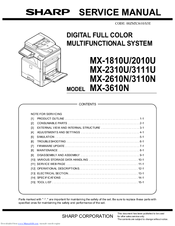 sharp mx 2610n manuals rh manualslib com Sharp MX 2600N DefaultPassword sharp mx-2600n operation manual