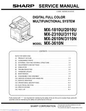 Sharp Mx 3110n Manuals Manualslib