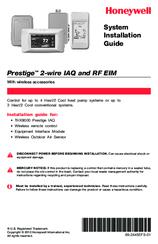 honeywell thx9000 prestige hd manuals rh manualslib com honeywell th5110d1006 user manual Honeywell Thermostat Battery Change