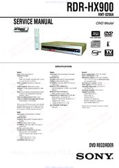 sony rdr hx900 service manual pdf download rh manualslib com 1985 Yamaha Moto 4 Manual Frigidaire Electrolux Refrigerator Manual