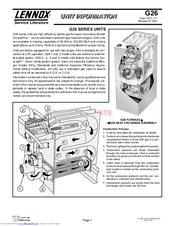 LENNOX G26Q2-50 UNIT INFORMATION Pdf Download. on