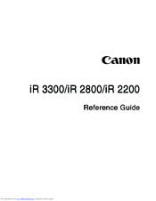 canon ir3300 series manuals rh manualslib com User Guide Icon Online User Guide