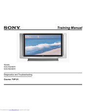 sony kds r60xbr1 60 rear projection tv manuals rh manualslib com Sony Wega SXRD Sony vs Sony Wega TV