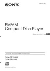 sony cdx gt500us manuals rh manualslib com Sony 52Wx4 Specification Sony 52Wx4 Specification