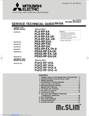 Mitsubishi Electric PEAD-RP3EA1.UK Service Technical Manual