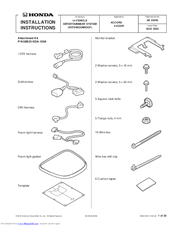 Honda 08A23-2E1-010 Installation Instructions Manual
