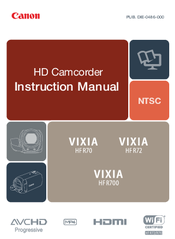 Canon Vixia hfr70 Instruction Manual