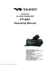yaesu ft 897 operating manual pdf download rh manualslib com Yaesu FT- 847 Shack RigPix Yaesu FT 897