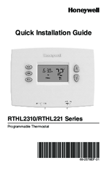 Honeywell RTHL221 series Quick Installation Manual