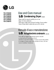 LG TD-C70040E Use And Care Manual