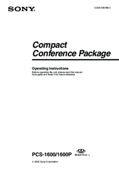 Sony PCS-1600 Operating Instructions Manual