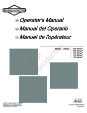 Briggs & stratton the power within 600 series operator's manual.