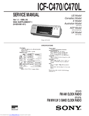 Sony ICF-C470 - Fm/am Wide Service Manual