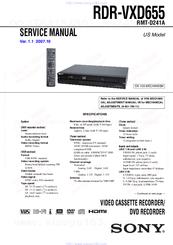 sony rdr vxd655 dvdr vcr combo manuals rh manualslib com Sony TV Repair Manual Sony TV Repair Manual