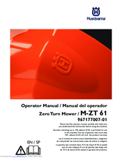Husqvarna MZ61 Manuals