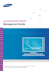 Samsung iES4028FP Management Manual
