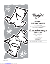 Whirlpool YWED7500VW Use & Care Manual