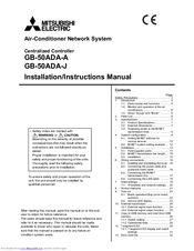 Mitsubishi Electric GB-50ADA-A Installation Instructions Manual