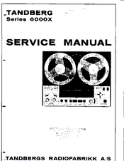 Tandberg 6000X Series Manuals