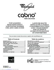 whirlpool wtw5500xw manuals rh manualslib com Whirlpool Cabrio Top Load Washer Whirlpool Cabrio Airplane