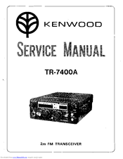 Kenwood TR-7400A Manuals on