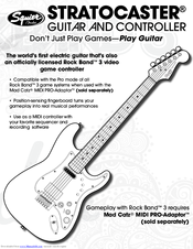 squier stratocaster guitar and controller manuals rh manualslib com squier bullet strat manual fender squier strat manual