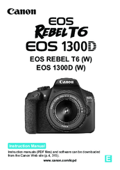 canon eos rebel t6 instruction manual pdf download rh manualslib com canon eos rebel t3 instruction manual canon eos rebel t3 instruction manual