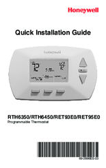honeywell programmable thermostat rth6450 manuals rh manualslib com honeywell programmable thermostat manual rth6350d honeywell programmable thermostat owner's manual