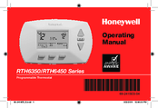Honeywell PROGRAMMABLE THERMOSTAT RTH6450 Operating Manual