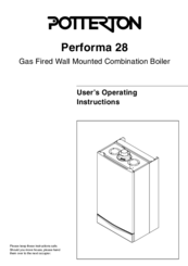 Potterton performa 28 manuals potterton performa 28 user operating instructions manual 12 pages gas fired wall mounted combination boiler cheapraybanclubmaster Gallery