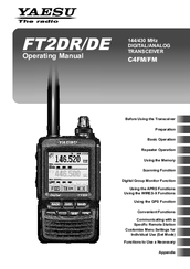 Yaesu FT2DR Operating Instructions Manual