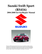 suzuki swift sport 2004 service repair manual pdf download rh manualslib com suzuki swift sport 2012 service manual suzuki swift sport service manual