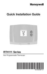 honeywell rth111 series manuals rh manualslib com Honeywell Alarm Keypad Manual Honeywell Thermostat Programming Manual
