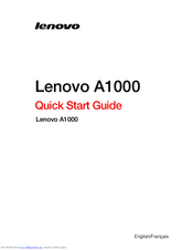 Lenovo A1000M Quick Start Manual