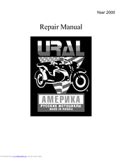 ural motorcycles 2000 sportsman manuals rh manualslib com ural 750 repair manual ural 650 repair manual