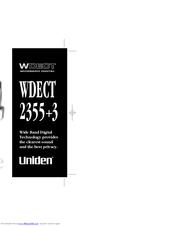 uniden wdect 2355 3 manuals rh manualslib com