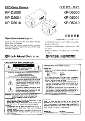 Hitachi KP-D5010 Operation Manual